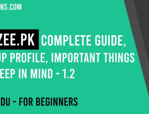 Rozee.pk Complete Guide, make an account, setup profile, apply to jobs, 100% explained – 1.2