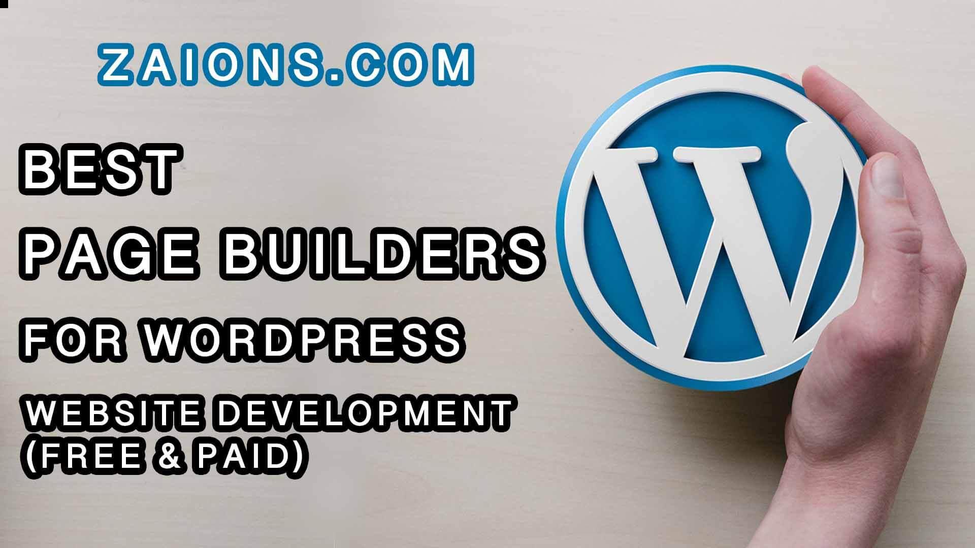 best page builders for wordpress development