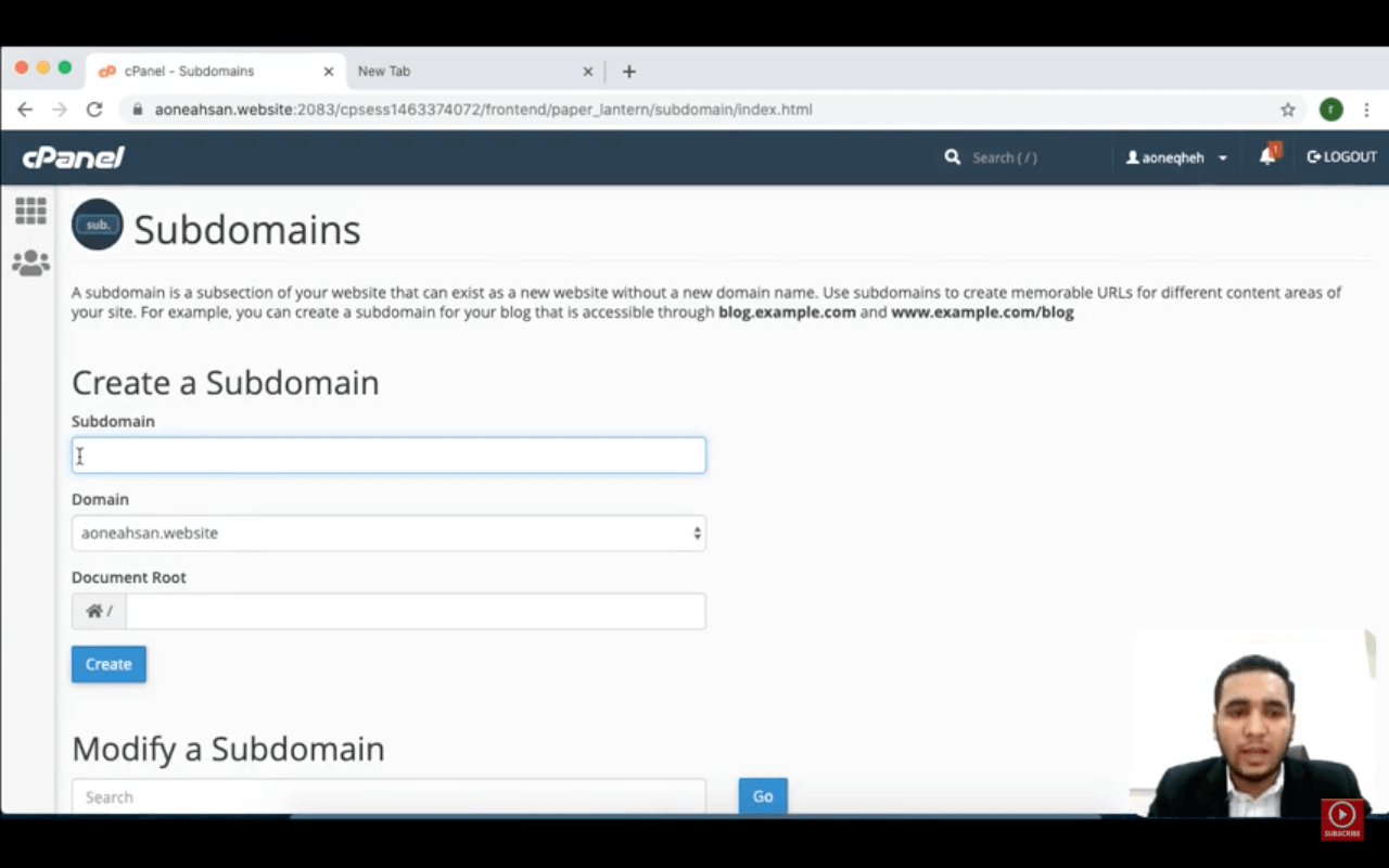 Cpanel: What is a Subdomains? – How to make/create/add a Subdomain. | Zaions