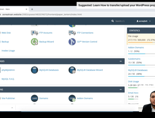 Learn How to transfer/upload your WordPress project from Local(PC) to Cpanel(Server) 1.1 – Zaions